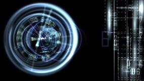 Абстрактное высокотехнологичное знамя, отснятый видеоматериал запаса иллюстрация штока
