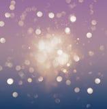 Абстрактное влияние фиолетового и голубого bokeh блестящее Стоковая Фотография RF