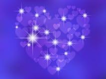 Абстрактное в форме сердц bokeh стоковое фото rf