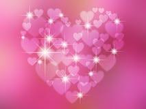 Абстрактное в форме сердц bokeh стоковые изображения rf