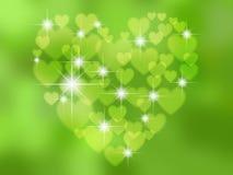 Абстрактное в форме сердц bokeh бесплатная иллюстрация