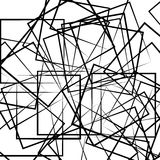 Абстрактное геометрическое изображение искусства Monochrome, светотеневой иллюстрация штока
