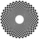 Абстрактное геометрическое искусство с круговым мотивом Геометрическая черная и иллюстрация штока