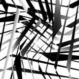 Абстрактное геометрическое искусство с нервными, угловыми формами Случайно заказ Стоковая Фотография RF