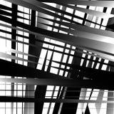 Абстрактное геометрическое искусство с нервными, угловыми формами Случайно заказ Стоковые Изображения RF