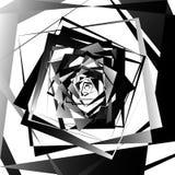 Абстрактное геометрическое искусство с нервными, угловыми формами Случайно заказ Стоковые Фото
