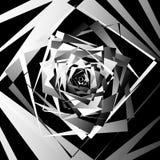 Абстрактное геометрическое искусство с нервными, угловыми формами Случайно заказ Стоковое Изображение