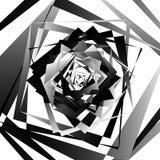 Абстрактное геометрическое искусство с нервными, угловыми формами Случайно заказ Стоковая Фотография