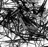 Абстрактное геометрическое искусство с случайными, разбросанными формами Стоковые Фото