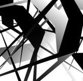 Абстрактное геометрическое искусство с случайными, разбросанными формами Стоковая Фотография