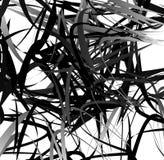 Абстрактное геометрическое искусство с случайными, разбросанными формами Стоковое фото RF