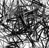 Абстрактное геометрическое искусство с случайными, разбросанными формами Стоковая Фотография RF