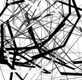 Абстрактное геометрическое искусство с случайными, разбросанными формами Стоковые Фотографии RF