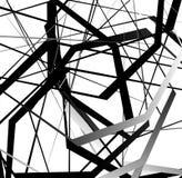 Абстрактное геометрическое искусство с случайными, разбросанными формами иллюстрация штока