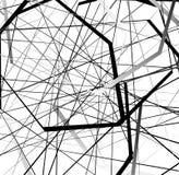Абстрактное геометрическое искусство с случайными, разбросанными формами иллюстрация вектора