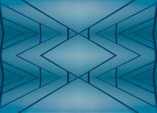 абстрактное голубое озеро Стоковая Фотография