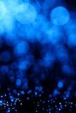 абстрактное голубое оптическое волокно Стоковое фото RF