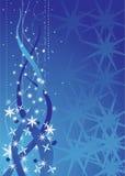 абстрактное голубое рождество Стоковые Фотографии RF