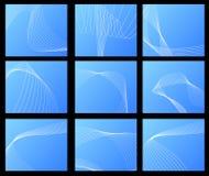 абстрактное голубое собрание визитных карточек иллюстрация штока
