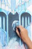 абстрактное готское изображение картины человека руки Стоковое Изображение RF