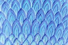Абстрактное голубое перо штукатурки Стоковая Фотография