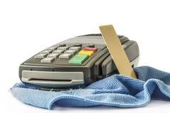 абстрактное голубое фото кредита карточки Стоковые Изображения