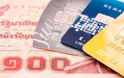 абстрактное голубое фото кредита карточки Стоковое Изображение RF