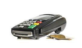 абстрактное голубое фото кредита карточки Стоковая Фотография RF