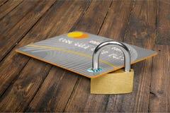 абстрактное голубое фото кредита карточки Стоковые Изображения RF