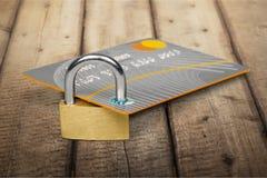 абстрактное голубое фото кредита карточки Стоковая Фотография
