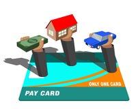 абстрактное голубое фото кредита карточки иллюстрация штока