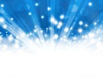 Абстрактное голубое bokeh предпосылки Стоковое Фото