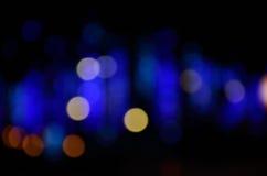 абстрактное голубое bokeh Стоковая Фотография RF