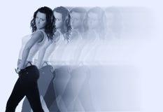 абстрактное движение девушки Стоковая Фотография RF