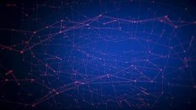 Абстрактное движение линий на голубой предпосылке сток-видео