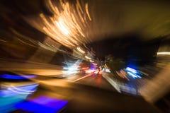 абстрактное движение ночи стоковое изображение