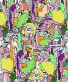 Абстрактное лето иллюстрации Стоковые Изображения RF