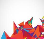 Абстрактное дело технологии треугольника компьютера цепи структуры Стоковое Изображение