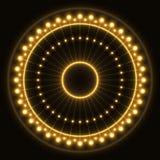 Абстрактное желтое кольцо иллюстрация вектора