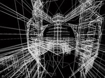 абстрактное здание Стоковое Изображение RF