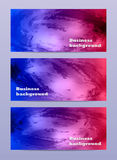 Абстрактное знамя дела акварели Стоковая Фотография