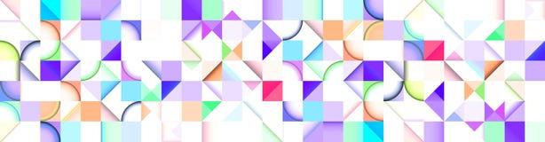 Абстрактное знамя, поэлементное карта, произведенный компьютер Стоковые Изображения