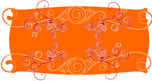 абстрактное знамя флористическое Иллюстрация вектора