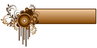 абстрактное знамя Стоковое Изображение