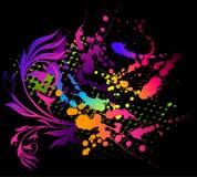 абстрактное знамя blots флористическое Стоковая Фотография RF