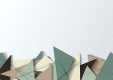 Абстрактное знамя origami Стоковая Фотография