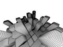абстрактное зодчество Стоковые Фотографии RF