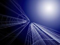 абстрактное зодчество 3d Стоковые Изображения RF