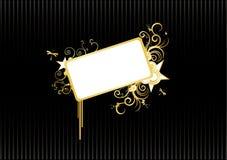 абстрактное золото знамени иллюстрация штока