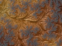 Абстрактное золото и голубая флористическая текстурированная картина фрактали r Компьютер стоковое фото
